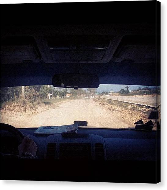 Dirt Road Canvas Print - Going To The Place Today... Away From by Natalia Contreras