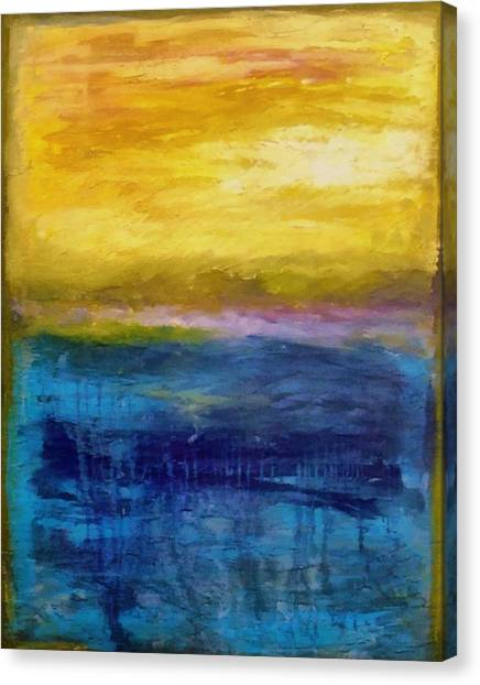 Gold And Pink Sunset Ll Canvas Print