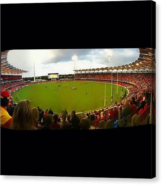 Goal Canvas Print - Gold Coast Suns by Joe Reidy