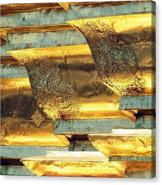 Iger Canvas Print - Gold..always Believe In Your by A Rey