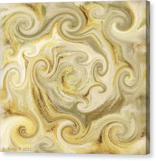Golden Blend Canvas Print