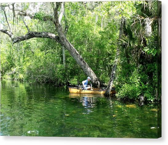 Golden Canoe Launch Canvas Print