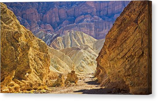 Golden Canyon At Death Valley Canvas Print