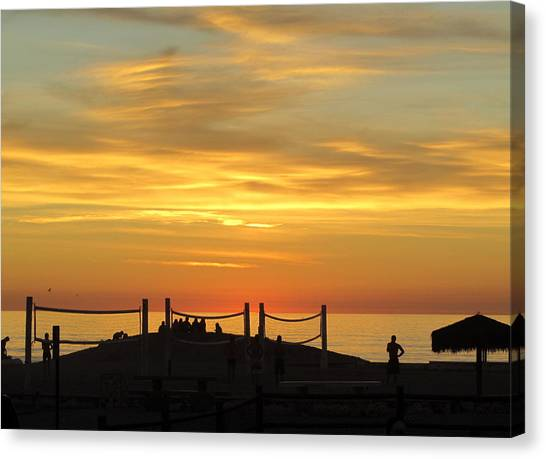 Canvas Print featuring the photograph Golden Coast Sunset by Margaret Pitcher