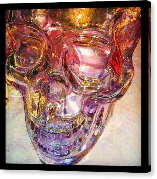 Droid Canvas Print - Golden Death - Skull #abstract #android by Marianne Dow