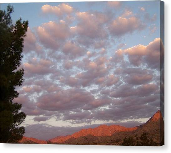 Golden Desert Sky Canvas Print