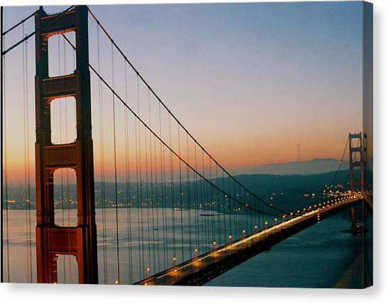 Golden Gate Blue Canvas Print by Trent Mallett