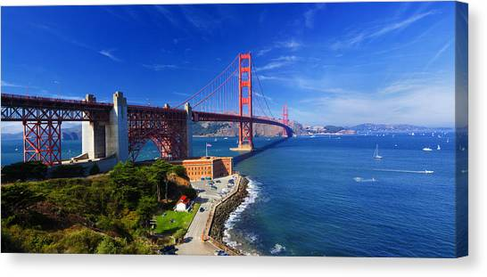 Golden Gate Bridge 1. Canvas Print by Laszlo Rekasi