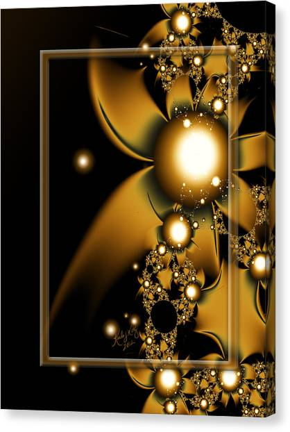 Golden Luxury Canvas Print
