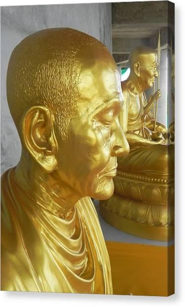 Golden Monk Canvas Print by Jarrod Faranda