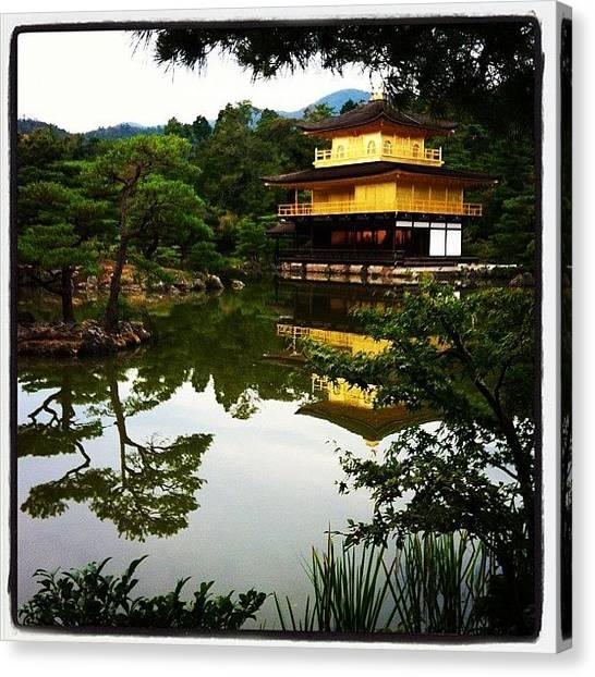 Samurai Canvas Print - Golden Palace Kyoto Japan by Jimmy Pargas