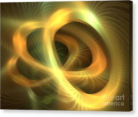 Golden Rings Canvas Print
