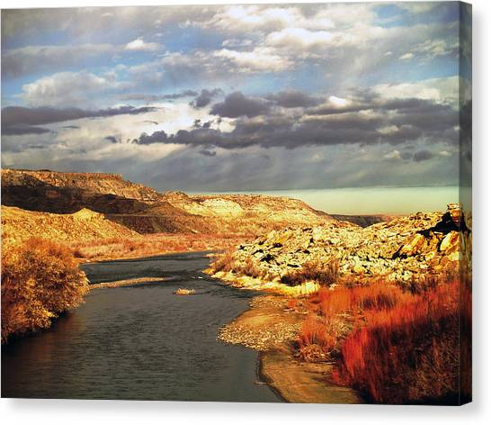 Golden San Juan River Canvas Print