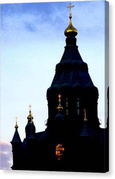 Golden Spires Canvas Print by Lee Versluis
