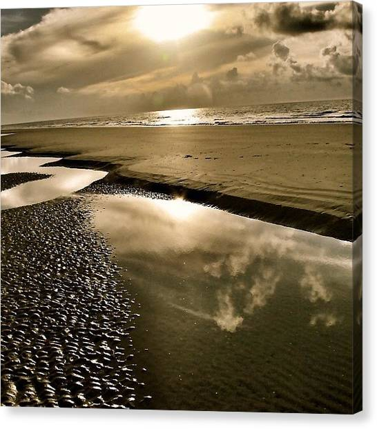 Ocean Sunrises Canvas Print - golden Sunrise by Tony Delsignore