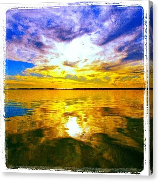 Sunset Canvas Print - Golden Sunset II by James Granberry