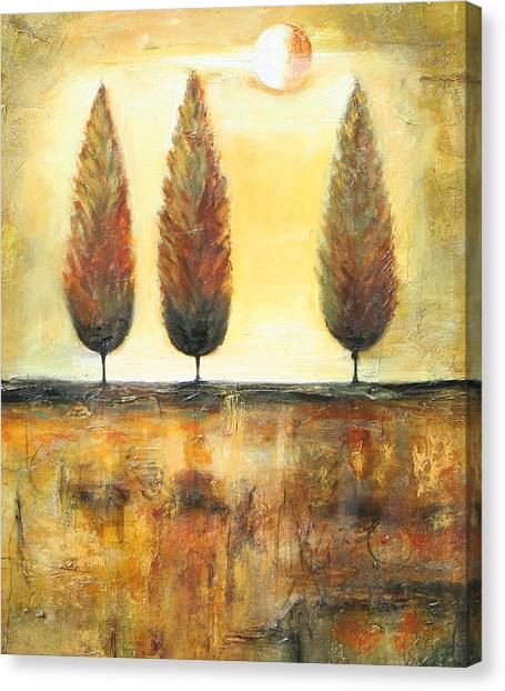Golden Trees Canvas Print