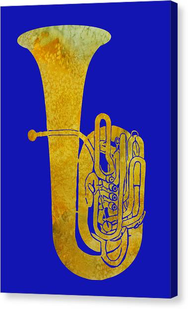 Marching Band Canvas Print - Golden Tuba by Jenny Armitage