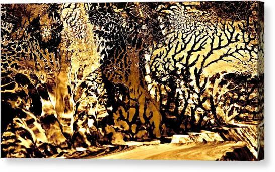 Golden Wonderland Canvas Print by Gloria Warren