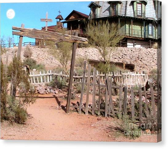 Goldfield Ghost Town Canvas Print by Cristophers Dream Artistry