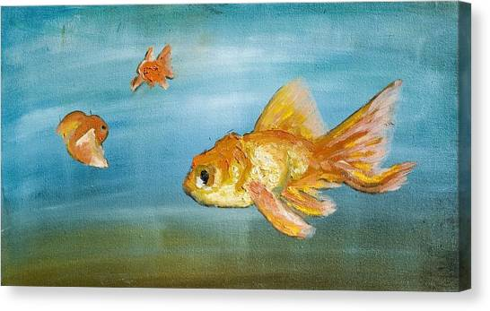 Goldfish Canvas Print by Anthony Cavins