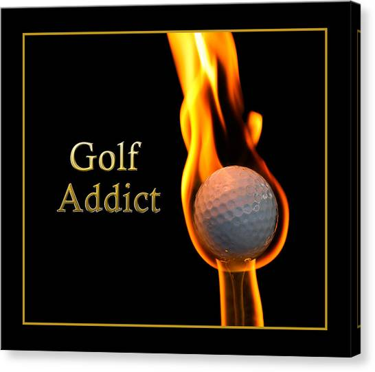 Golf Addict Canvas Print by Trudy Wilkerson