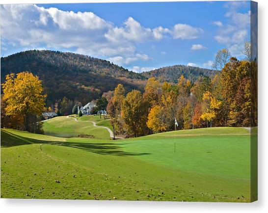 Golf Course In Autumn Canvas Print