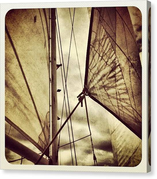 Sailboats Canvas Print - Gone Sailing by Jody Robinson