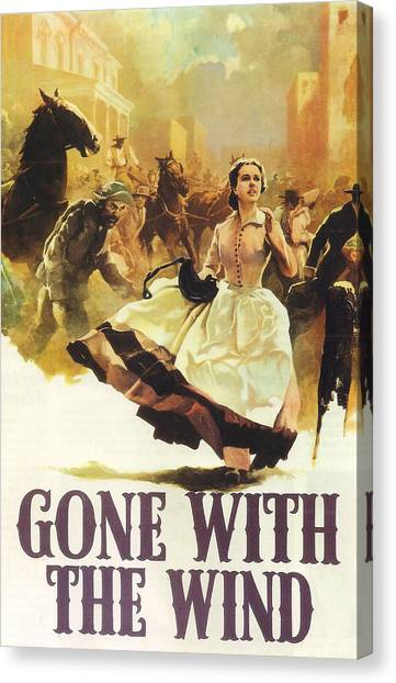Gone With The Wind Canvas Print - Gone With The Wind by Georgia Fowler