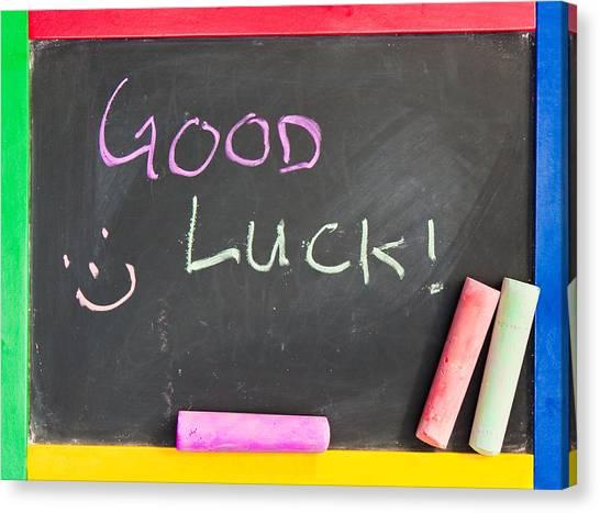Good Luck Canvas Print - Good Luck by Tom Gowanlock
