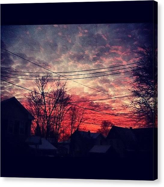 Lava Canvas Print - Good Morning ☺ #sky #sunrise by Nani Duh