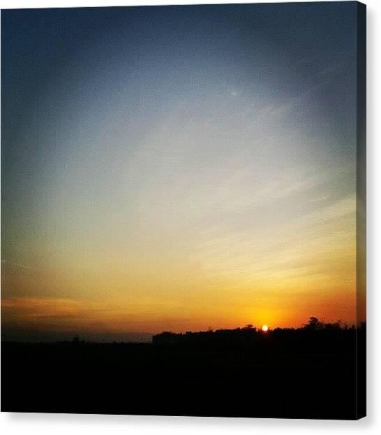 Liquor Canvas Print - Good Morning :) #sunrise #morning #sky by Gin Zhao Yun