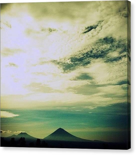 Volcanoes Canvas Print - Good Morning!! Bali, Indonesia 2010 by Gabriel Kang