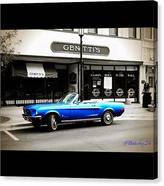 Pop Art Canvas Print - Good Morning Classic #mustang #town by Anthony  Bates