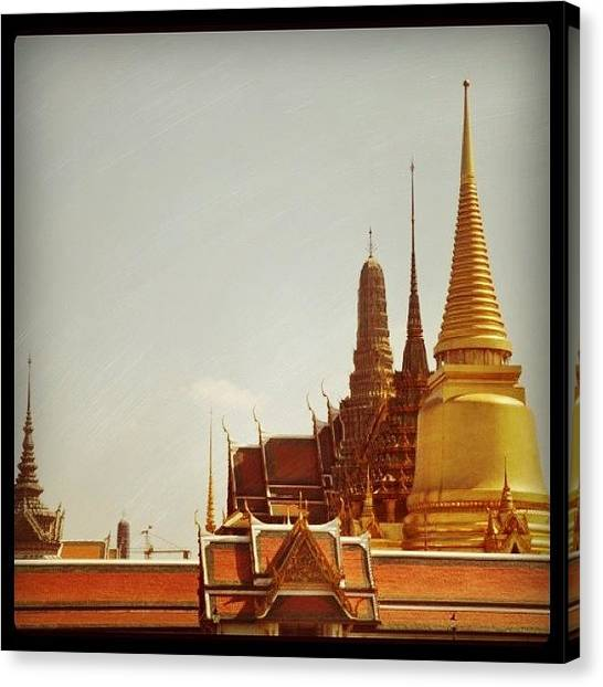 Temples Canvas Print - Good Morning From Bangkok...:) by Cheerful D
