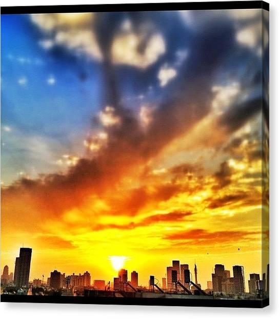 Sunrise Horizon Canvas Print - #good #morning #telaviv . #sunrise Over by Eyal Warshavsky