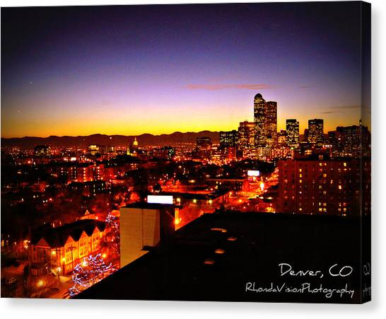 Good Night Mile High Canvas Print by Rhonda DePalma