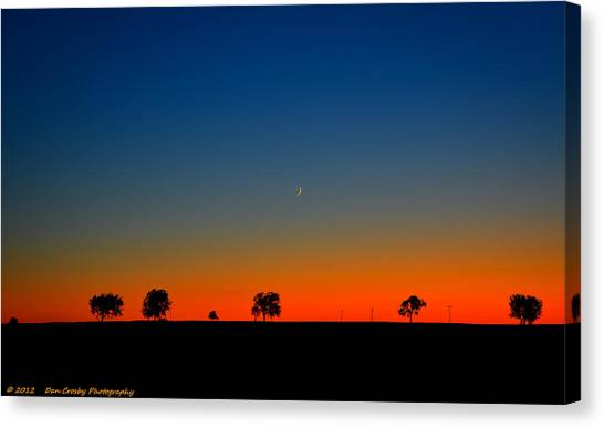 Good Night Moon Canvas Print by Dan Crosby