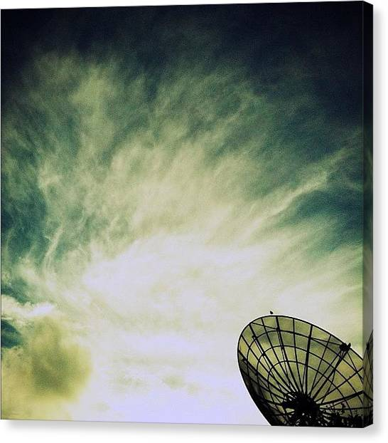 Satellite Canvas Print - Good Night! #satellite #silhouette by Gabriel Kang