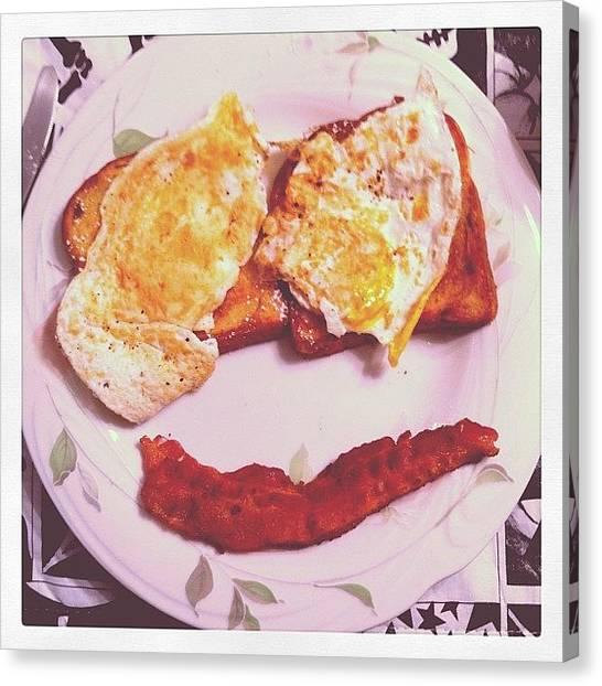 Bacon Canvas Print - Good Stuff. #breakfast #food #eggs by Craig Kempf