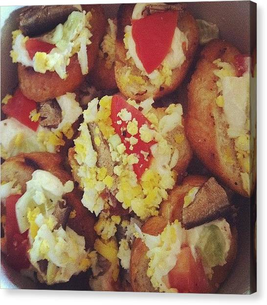Sandwich Canvas Print - #goodmorning #good #morning #food by Alex Mamutin