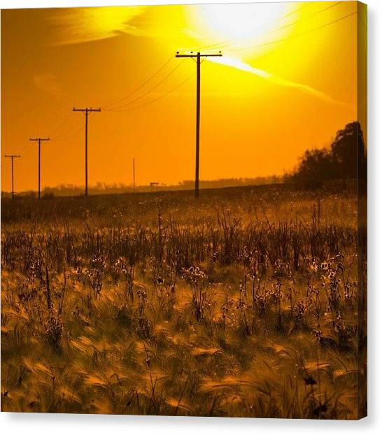 Prairie Sunrises Canvas Print - #goodmorning #highway 15. #sunrise by Michael Squier