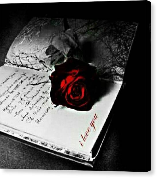 Red Roses Canvas Print - #goodnight #ig #rose #flower #book by Mary Carter
