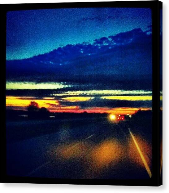 Minnesota Canvas Print - #goodnight #minnesota #driving #sunset by Emily Nielsen