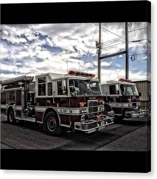 Firefighters Canvas Print - #goodtimes #rescue #iaff #firefighter by James Crawshaw