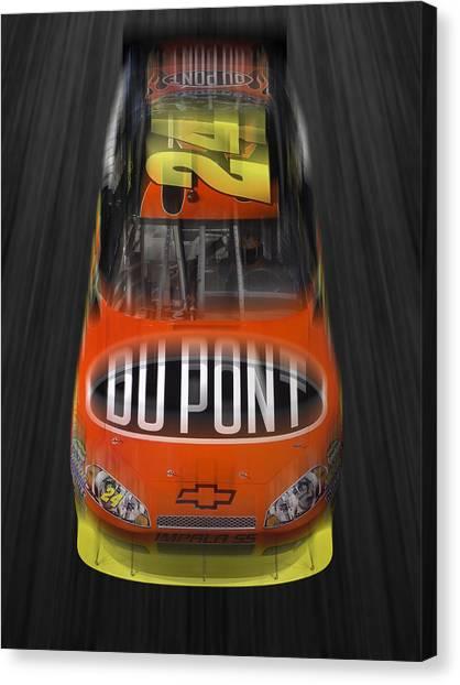 Racecar Drivers Canvas Print - Gordon On The Move by Mike McGlothlen