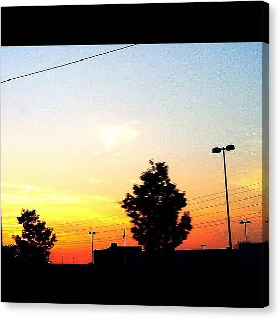 Pastel Canvas Print - Gorgeous #sunset Again On This #hot by Joanna Dowdell