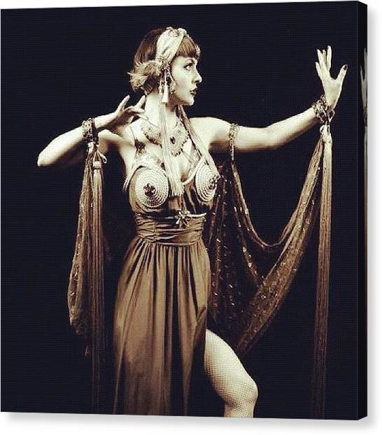 Shoulders Canvas Print - Gorgeous Vaudeville Shot By Bernie Today by Talulah Blue