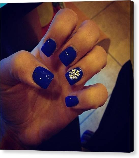 Snowflakes Canvas Print - Got The Nails Done 😊💅 #blue by Gabriella Molina