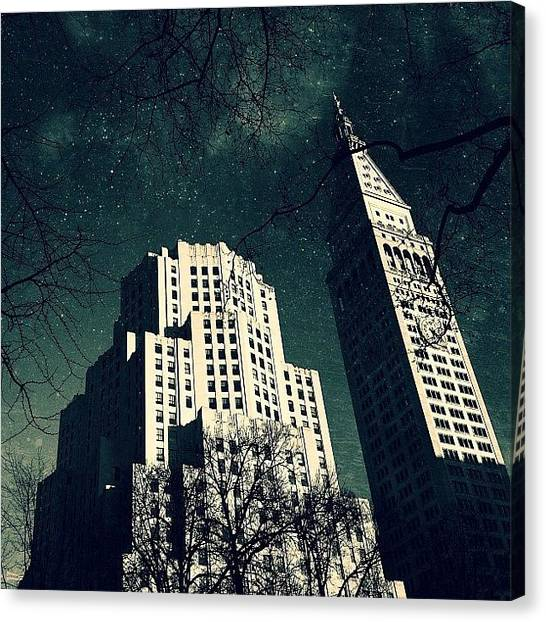 Landmarks Canvas Print - Gotham City Metlife by Natasha Marco